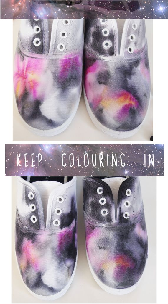 watercolor sneakers. I thought these were so cool and the great part about them is they are so hard to mess up!