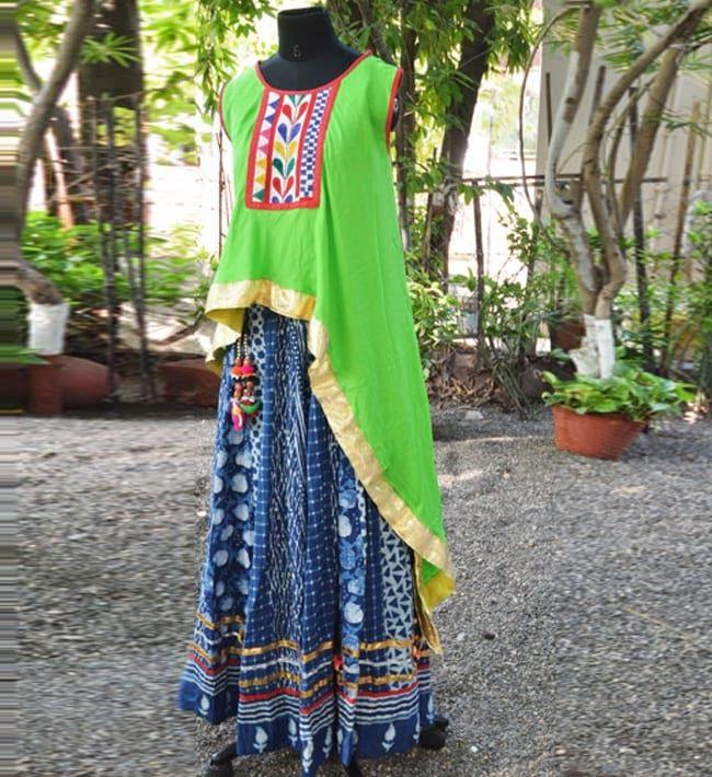 Navratri Chaniya Choli with Asymmetric Tunic