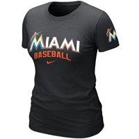 Nike Miami Marlins Women's Premium Away Practice T-Shirt