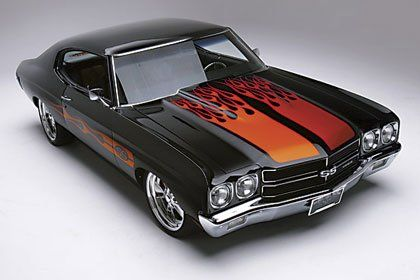 Chevelle, my favorite muscle car! Personally I can do without the flames