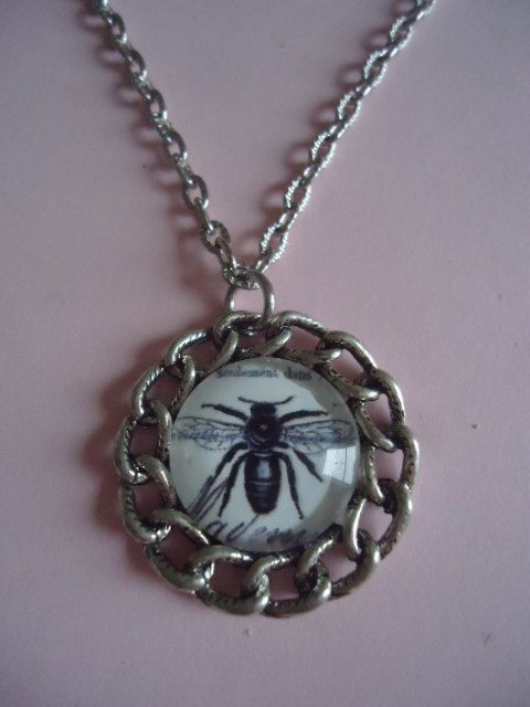 Bumblebee Necklace by TallulahStack on Etsy, $8.00