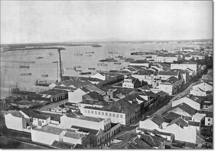 Vista aérea Porto Alegre déc. 1900.