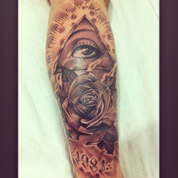 The third eye with rose