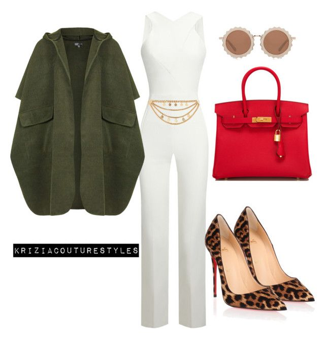Untitled #570 by kriziacouture on Polyvore featuring polyvore fashion style Topshop Roland Mouret Christian Louboutin Hermès House of Holland River Island clothing