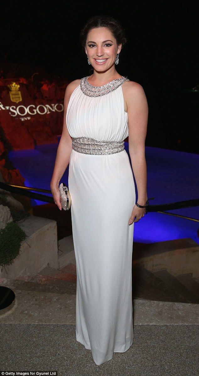 Grecian goddess: Kelly Brook opted for a timeless look at the De Grisogono 'Divine In Cann...