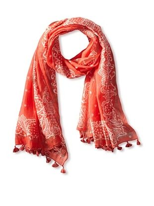 59% OFF Micky London Women's Saree Tasseled Scarf, Orange