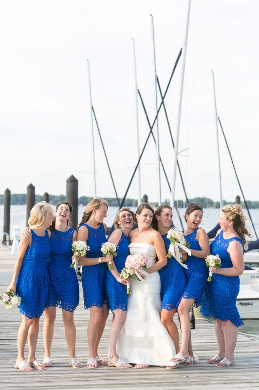 Blue Lilly Pulitzer Bridesmaid Dresses // Dana Cubbage Weddings // www.danacubbageweddings.com