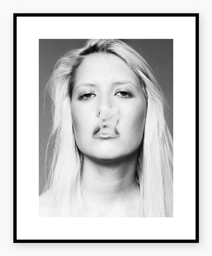 HELJE POLAROIDS - Smoking Girl    #fashion #photoart #smoke #blonde #blackandwhite #portrait #poster