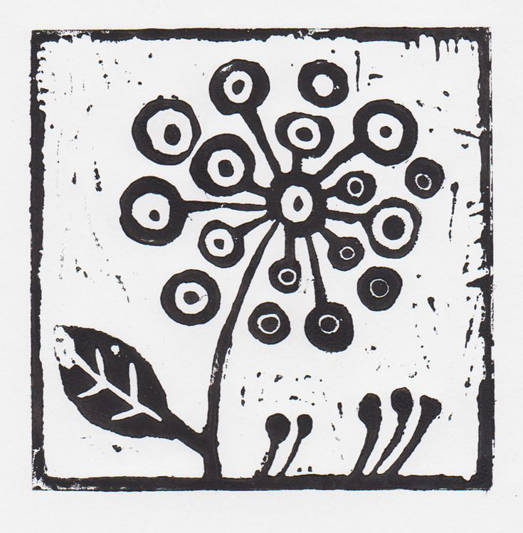 simple lino cut