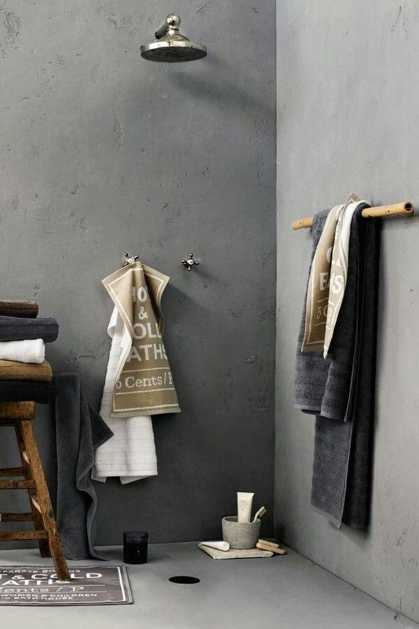 17 beste idee n over betonnen douche op pinterest beton badkamer koperen badkamer en zwarte - Betonnen badkamer ...