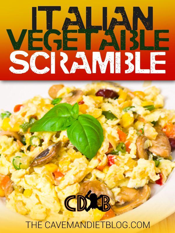 Paleo breakfast Italian vegetable scramble main image