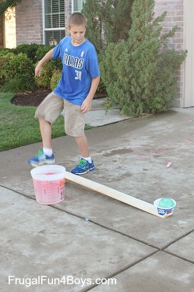 How to build a water balloon launcher.  Definitely on our to-do list this summer!