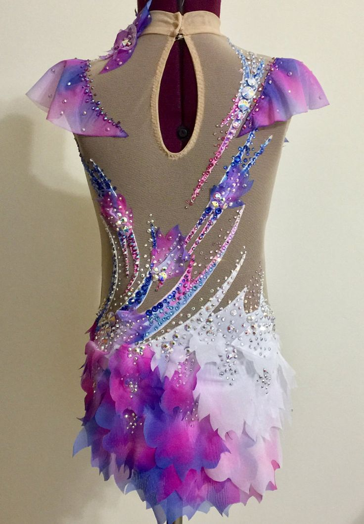 Competition Rhythmic Gymnastics Leotard от Savalia на Etsy