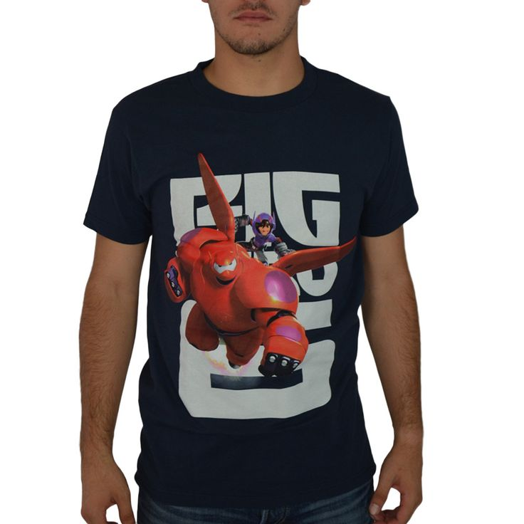 Disney Baymax Big Hero 6 Blue Licensed T-shirt