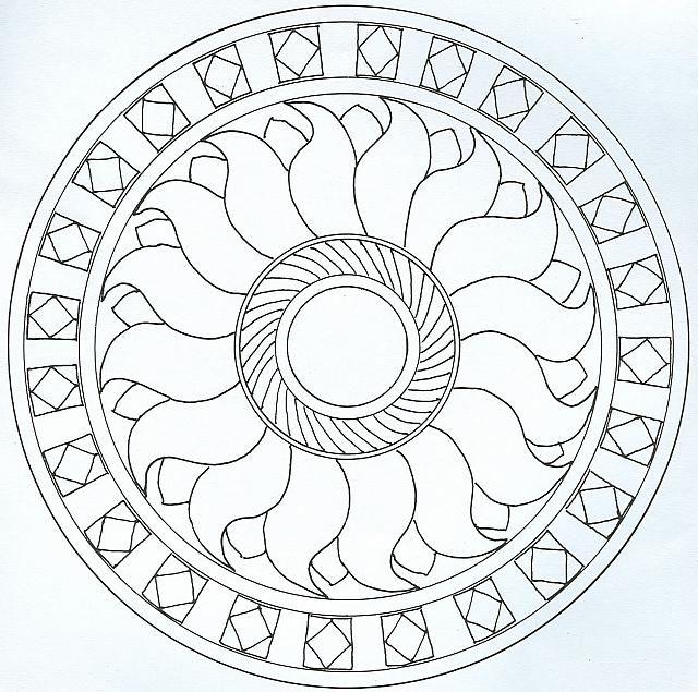 Mandala Disegno Da Colorare Gratis 4 Con Il Sole Disegni Di