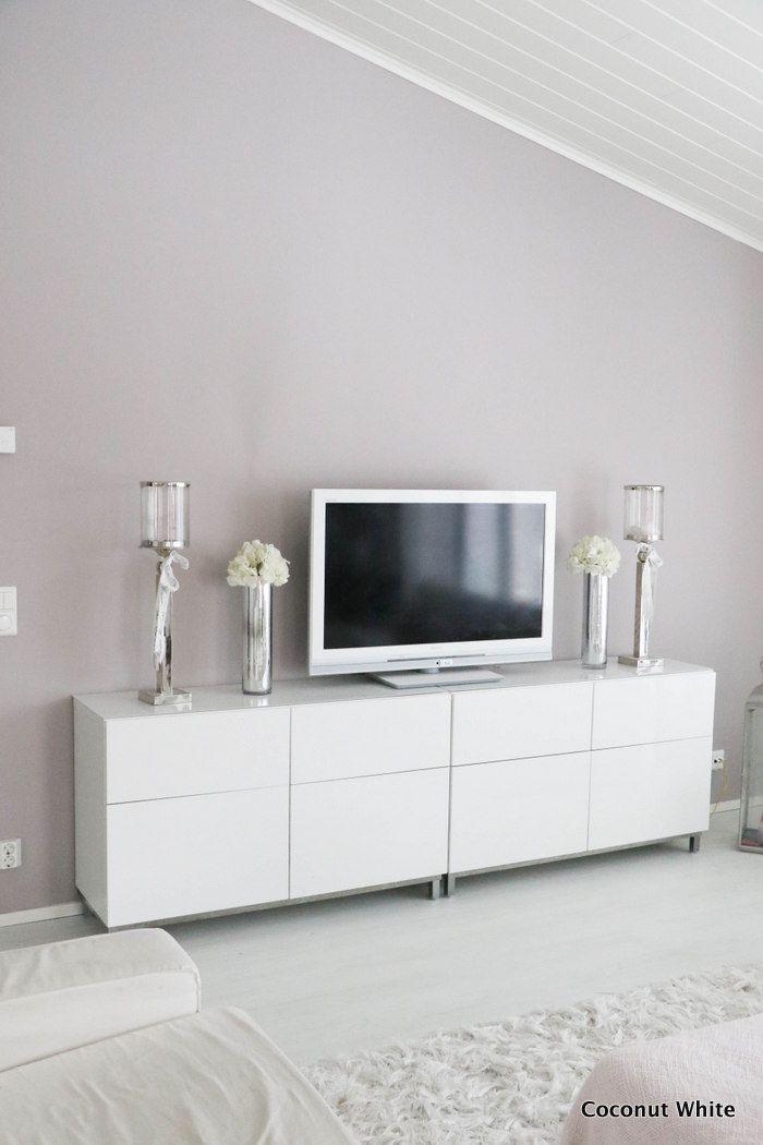 Coconut White: Lasiset maljakot olohuoneen tasolla