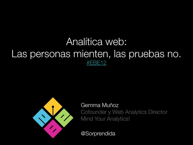 Analítica web para blogs por Gemma Muñoz