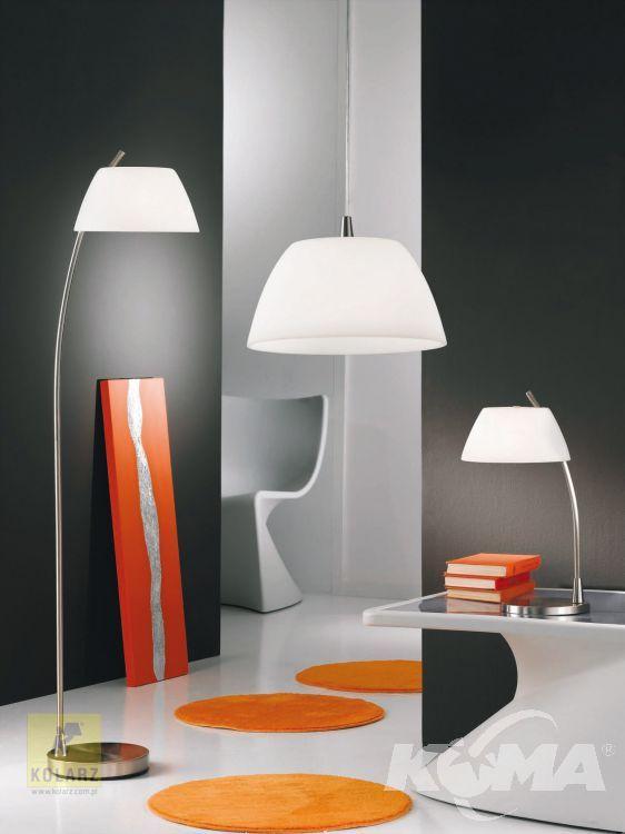 Malmo lampa wisząca 1x60W E27 35cm nikiel/biały