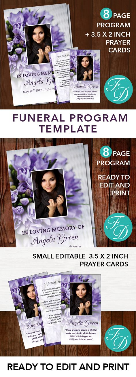 191 best 8 Page Funeral Program Templates images on Pinterest - funeral template download