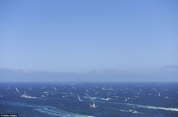 Long journey: The yachts taking part in the 70-year-old race will finish their journey in ...