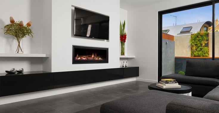 Seamless Landscape Gas Fireplace | Heatmaster