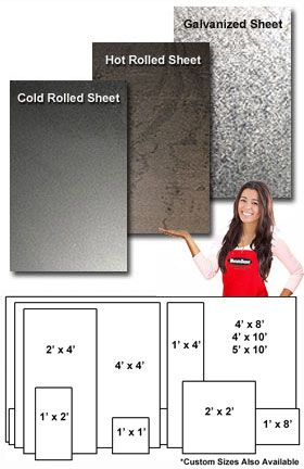 18g 4'x10' Cold Rolled Steel Sheet $93.60
