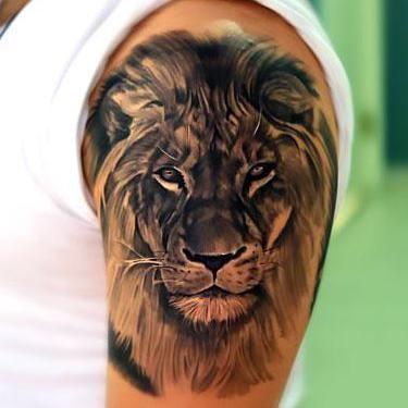 Best Lion Head Tattoo Idea