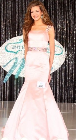 Liza Greenberg will represent Georgia in the Jr. Teen division at the International Junior Miss Pageant. She won the crown in Sherri Hill 32194.