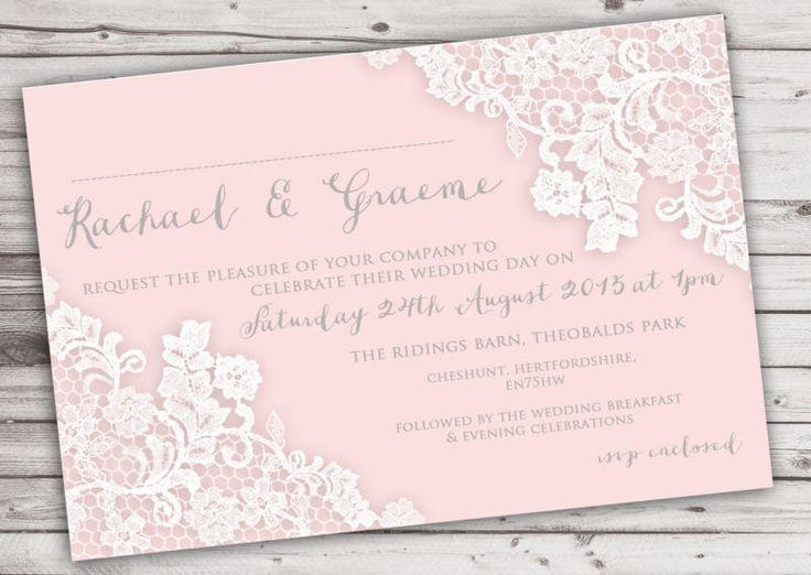 15 best Lace Wedding Invitations images on Pinterest Lace wedding