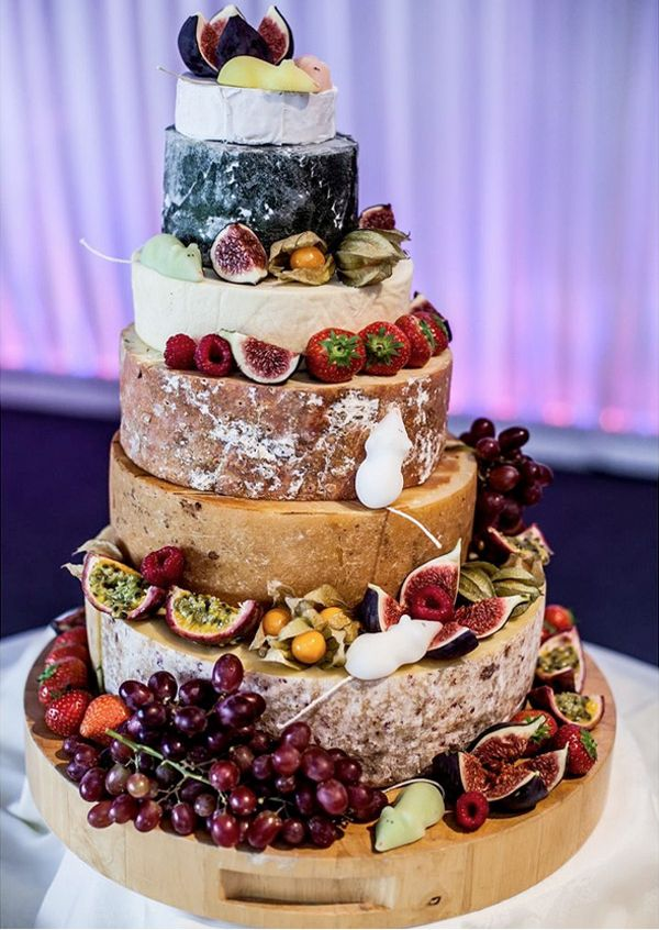 six tier cheese wheel wedding cake - brides of adelaide