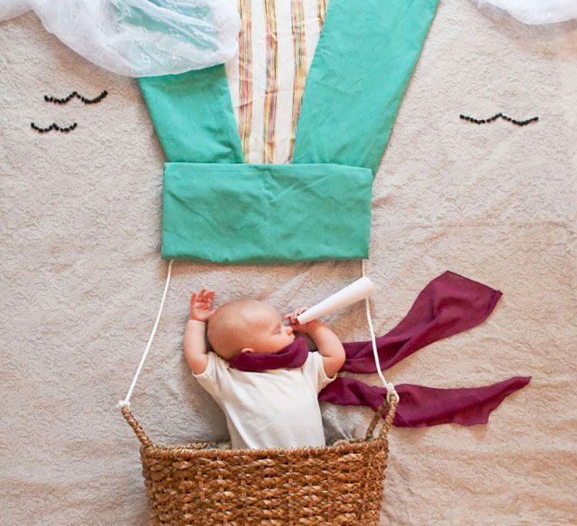 Have you seen Mila's Daydreams? It's the blog of an awesome mama photographer who creates scenes for her sleeping baby! People were stealing her photos so she stopped posting them as much, but she has contests all the time and these sleeping babies are adorable!