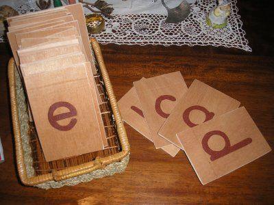 Sandpaper Letters Tutorial