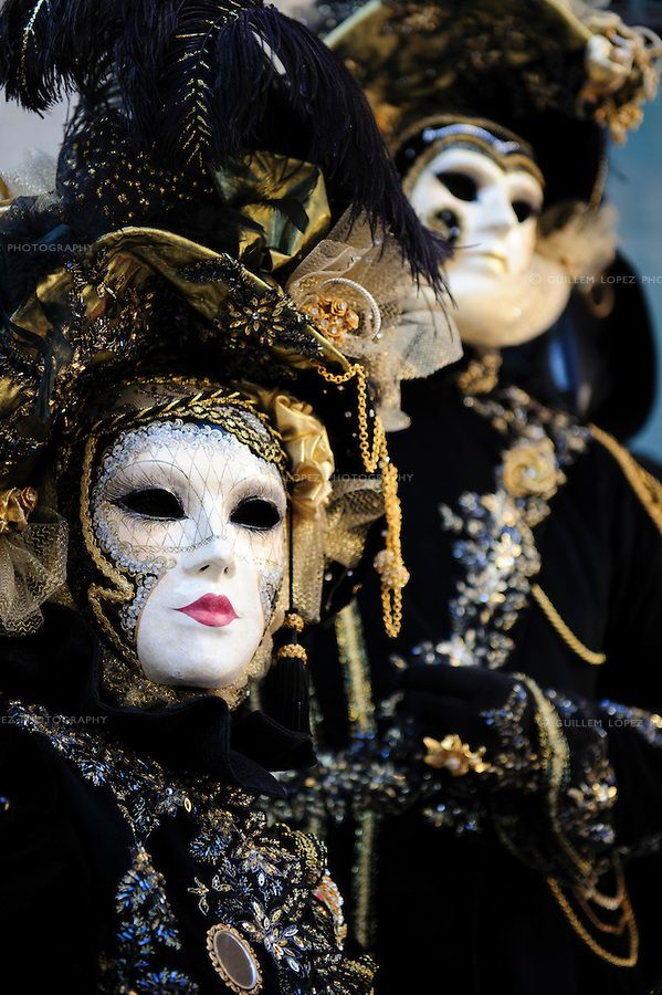 People wearing masks at the Carnival of Venice, Italy #mask