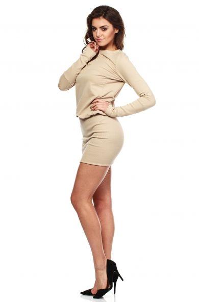 Sukienka dzienna mini z dzianiny MOE143  http://www.planetap.pl/sukienki-dzienne-c-1_6_221.html