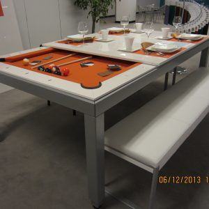 Dining Room Table That Is Also A Pool Table