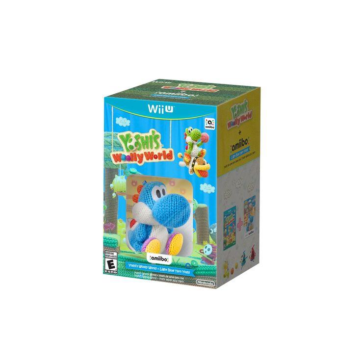 Yoshi's Woolly World + Light Blue Yarn Yoshi amiibo Nintendo Wii U