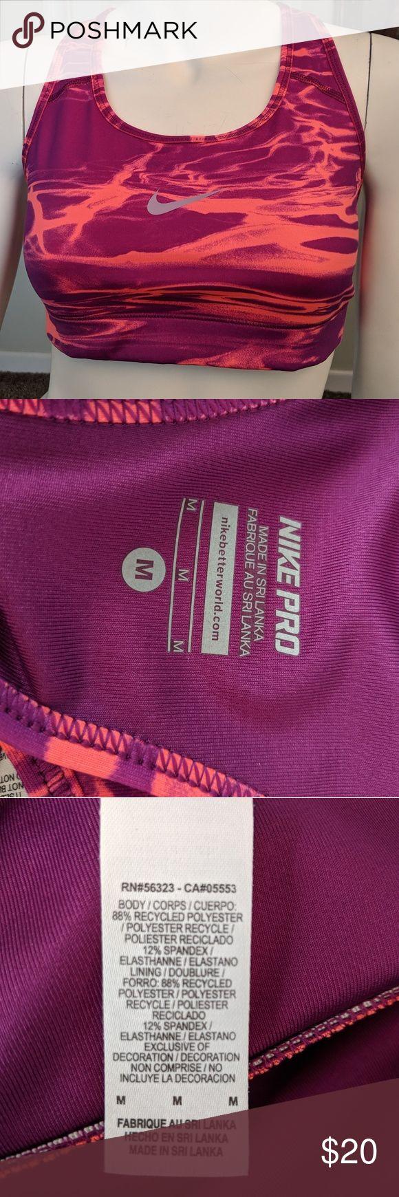 Nike Pro Dri-Fit Mid Impact Sports Bra Size Medium Nike Dri-Fit Mid Impact Sport …