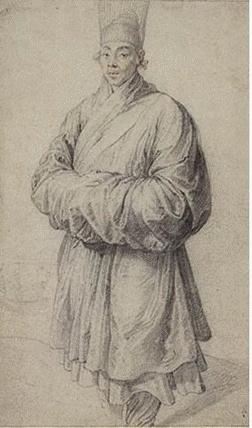루벤스, 한복입은남자, 1606-1608  서양인이 그린 최초의 한국인이라는 것에 의의가 있다. 주인공은 정확하지는 않지만 임진왜란 당시 일본에 포로로 끌려갔다가 이탈리아로 팔려간 안토니오 코레아일 가능성이 높다.역사적인 배경을 살펴보면 임진,정유왜란 동안 일본으로 잡혀간 조선인 가운데에는 길에 버려졌던 전쟁고아들이 많았다. 그중에서 마침 세계일주 길에 올랐던 이탈리아 신부 카를레티에게 구제되어 조선인으로서 처음으로 로마까지 가서 활동한 안토니오 코레아(Antonio Corea)라는 소년이 있었다.  전쟁 등을 겪고 일본에 까지 끌려갔다가 머나먼 서양의 땅까지 밟은 소년의 모습을 보아하니 안타까운 마음도 든다. 하지만 표정에서는 전혀 이러한 모습이 나타나지 않고 호기심 가득한 표정들이다. 아마 동양인을 바라보고 그림을 그리고 있는 루벤스의 표정도 같았을 것이다.표정 등에 비해서 옷차림 등은 세밀하게 묘사되지는 않았는데 그래도 당시 한국인이 입던 옷차림이라는 것은 알 수 있다.