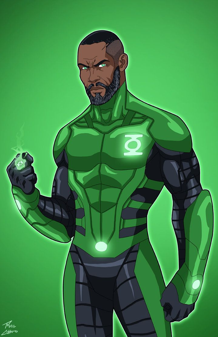 Green Lantern John Stewart (Earth-27) commission by phil-cho.deviantart.com on @DeviantArt