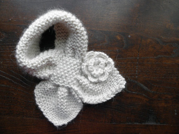 toddler scarf - bow-knot style with flower - shop knitsforcuties