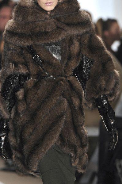 Sable fur & alligator skin Dennis Basso