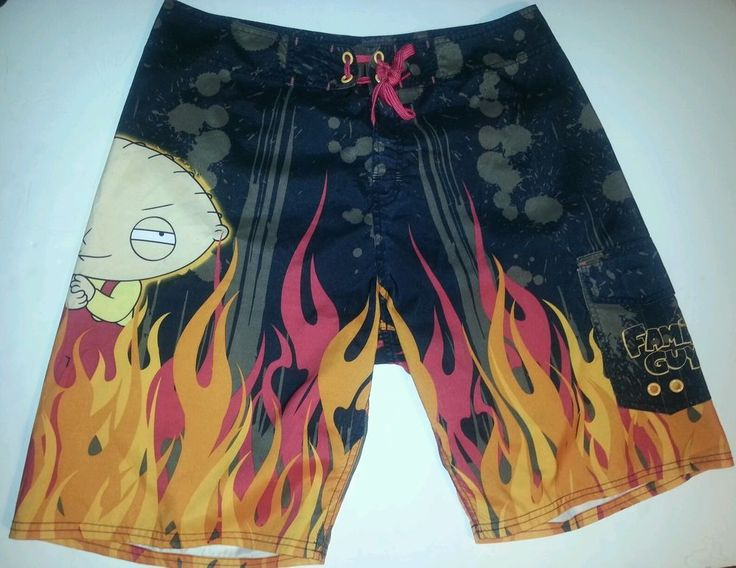 FAMILY GUY Stewie Griffin MEN'S BATHING Suit Swimming Trunks SHORTS SZ 32 #MAGBRANDS #BoardShorts