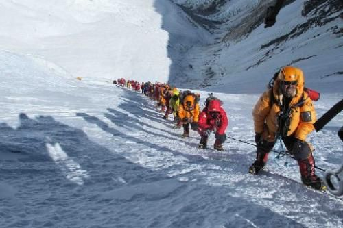 top of mount everest looking down - Google Search