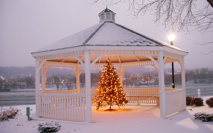 12 Best Images About Winter Decorated Gazebos On Pinterest