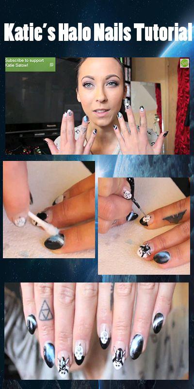 Halo Nail Tutorial, nail tutorial, diy, halo, gaming, video games, fps, nails
