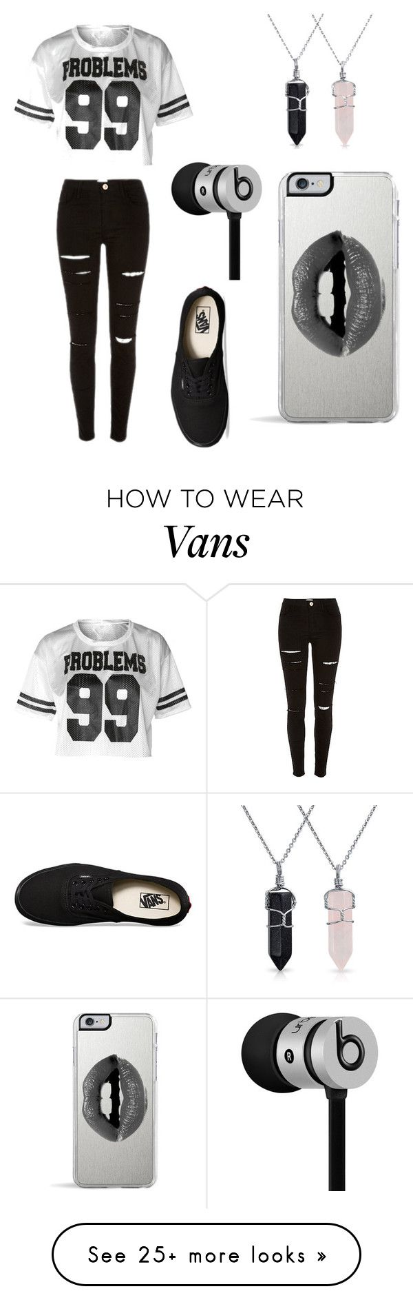 """Untitled #1"" by destinyilla on Polyvore featuring Vans, Bling Jewelry, Lipsy and Beats by Dr. Dre"