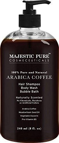 Arabica Coffee Anti Hair Loss Shampoo & Body Wash From Majestic Pure Restore Hair Growth Promotes Manageable Hair Regrowth 8 Fl. Oz.