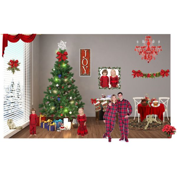 Merry Christmas From Cozee Quilts by cozeequilts on Polyvore featuring National Tree Company and Laura Dare