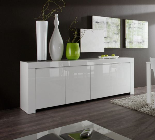 Spectacular sideboards Sideboard Kommode wei Hochglanz Lack Italien Livorno