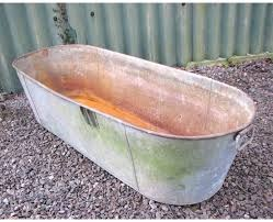 galvanised tin bath for horses' water trough
